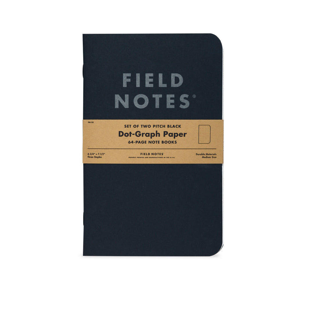 Field Notes Pitch Black Dot-Graph Paper