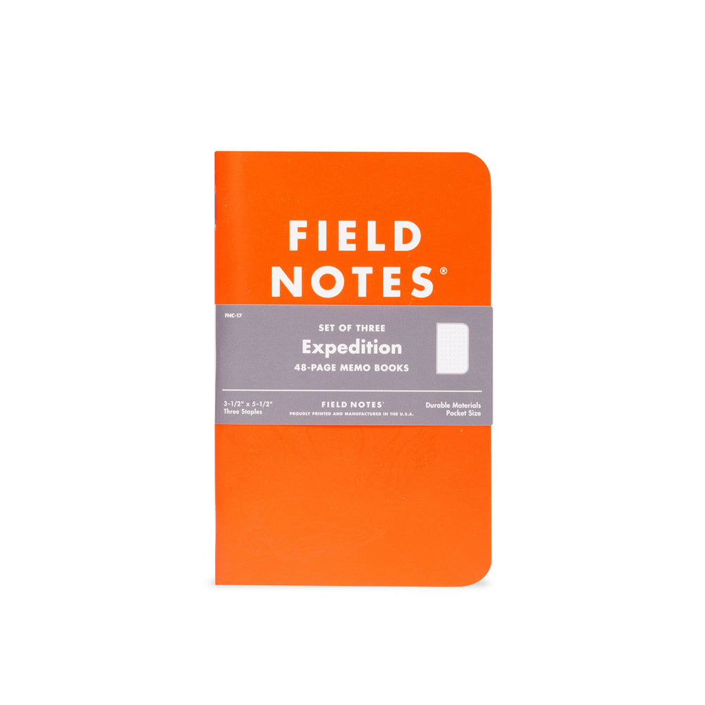 Field Notes Expedition Waterproof Notebooks 3-Pack