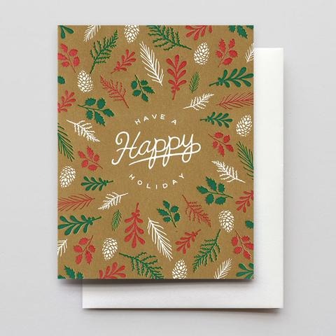 Forest Floor Holiday Card