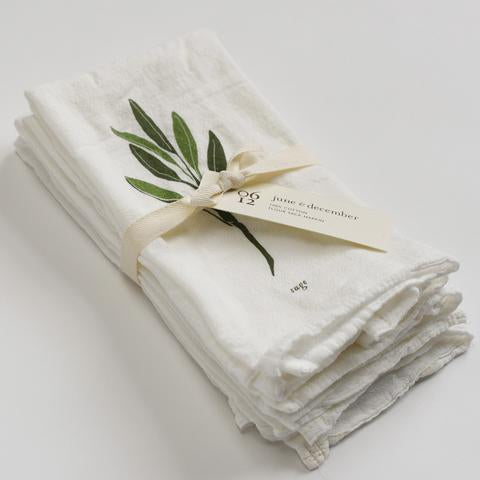 june & december - Garden Herbs Napkins: Set of 4
