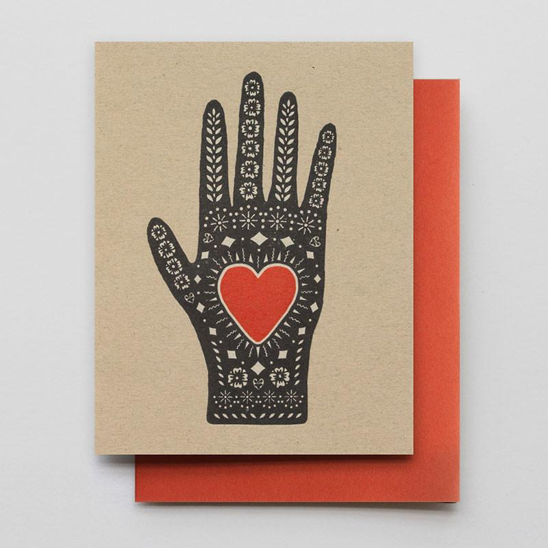 Hammerpress Heart In Hand Card