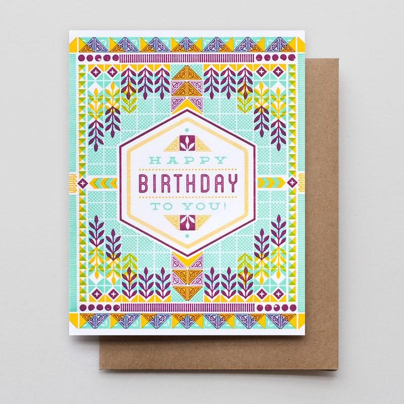 Hammerpress Hexagon Birthday Card