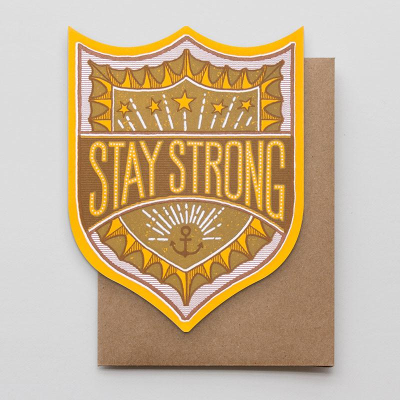 Hammerpress Stay Strong Badge Card