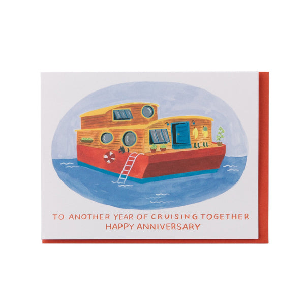 Small Adventure - Houseboat Anniversary Card