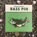 Bass Enamel Pin