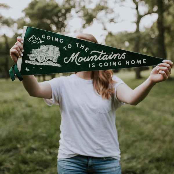 Oxford Pennant - Going To The Mountains Is Going Home Pennant