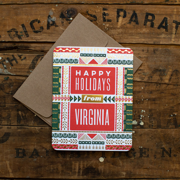 Hammerpress - Happy Holidays from Virginia Card