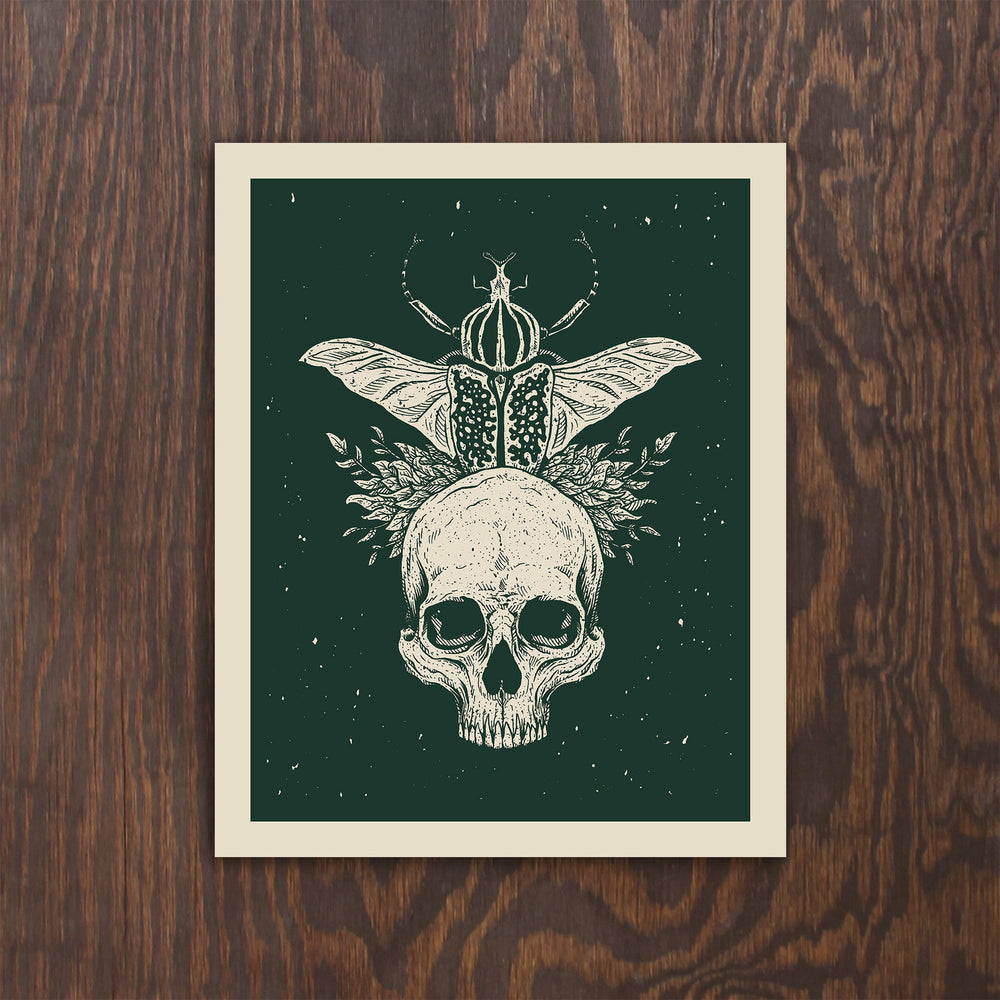 Goliathan Skull Screen Print