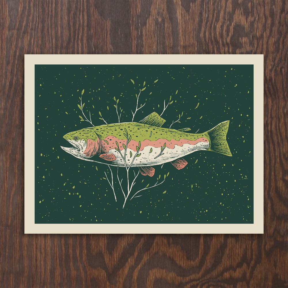 Rainbow Trout Screen Print