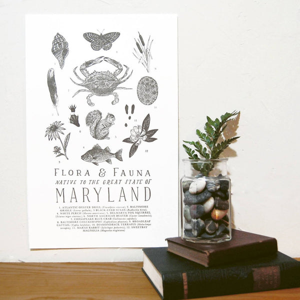 Wild Wander - Maryland Field Guide Print