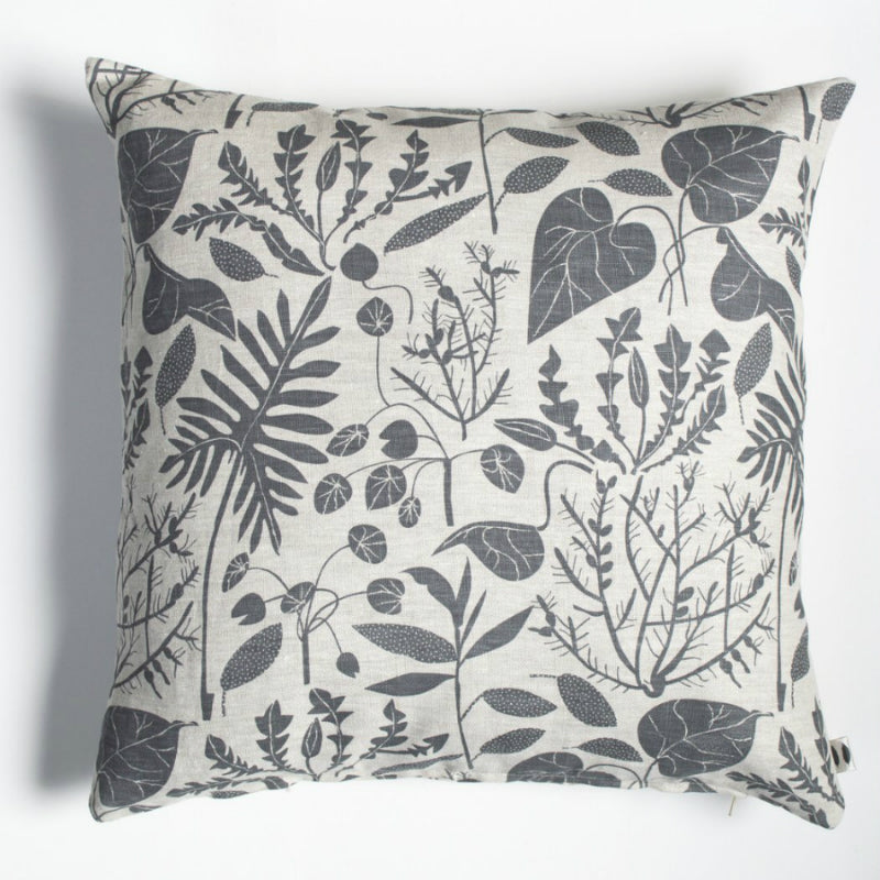 Banquet Workshop - Charcoal House Plants Pillow