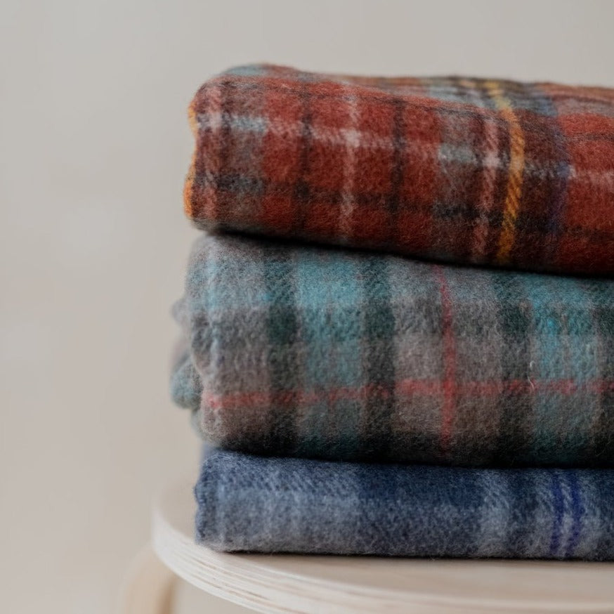 Recycled Wool Tartan Blanket