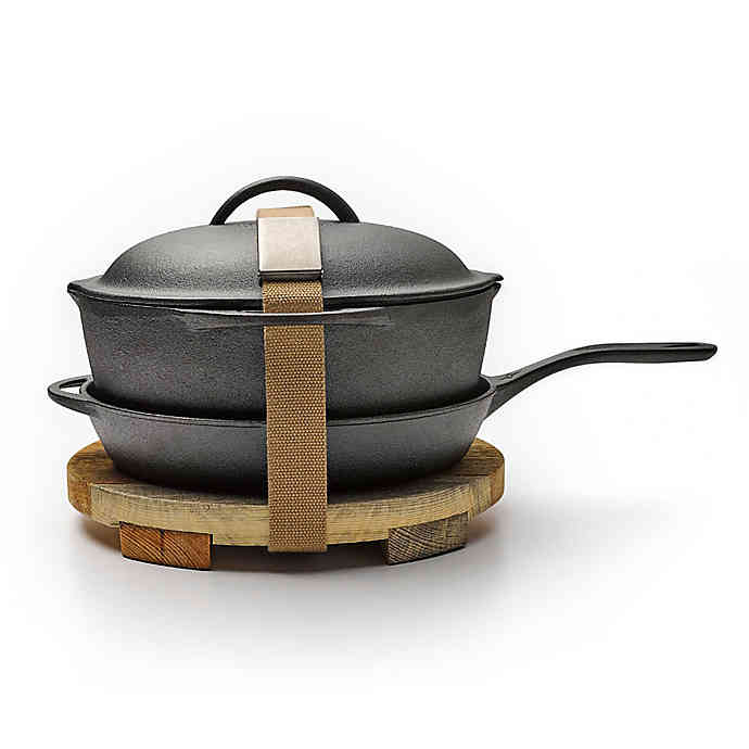 Cast Iron Skillet, Dutch & Trivet Set