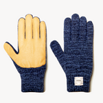 Ragg Wool Full Finger Gloves with Leather Palm