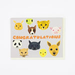 Baby Animal Congrats Card