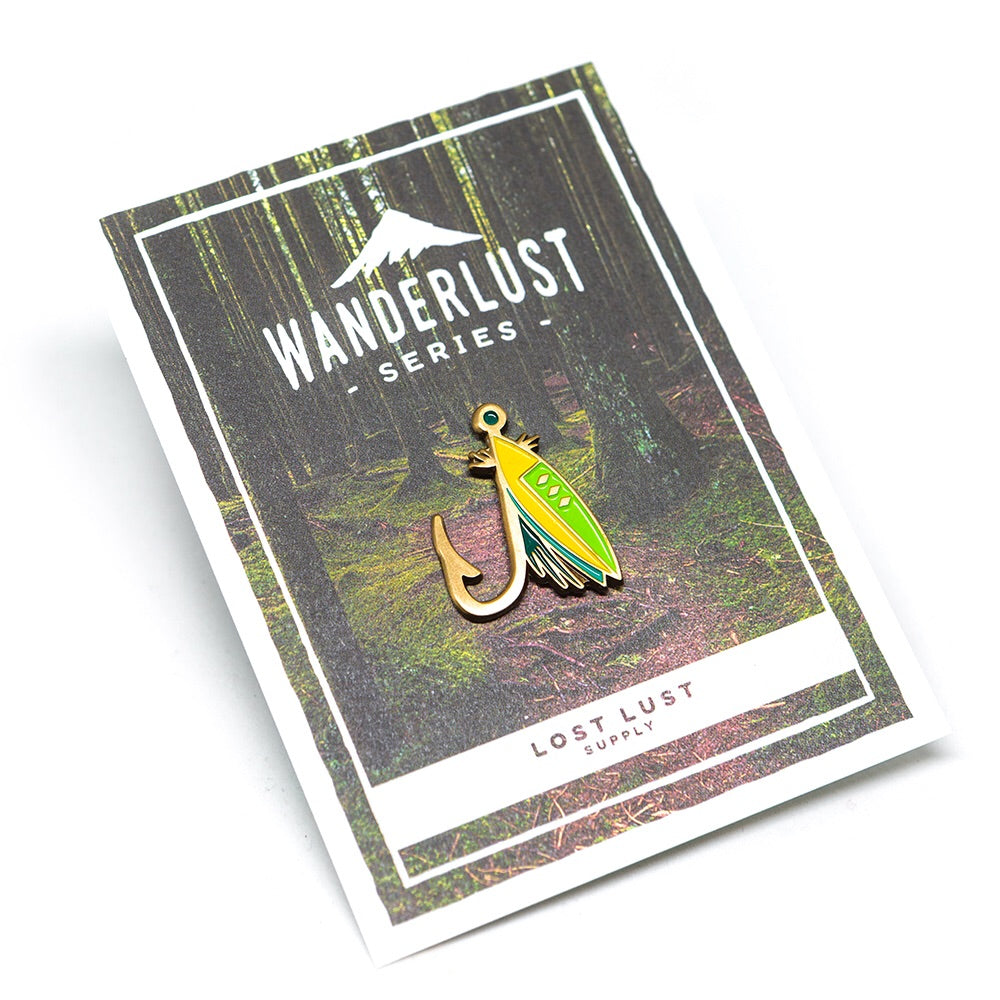 Lost Lust Supply - Fishing Lure Enamel Pin