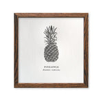 Pineapple Letterpress Print