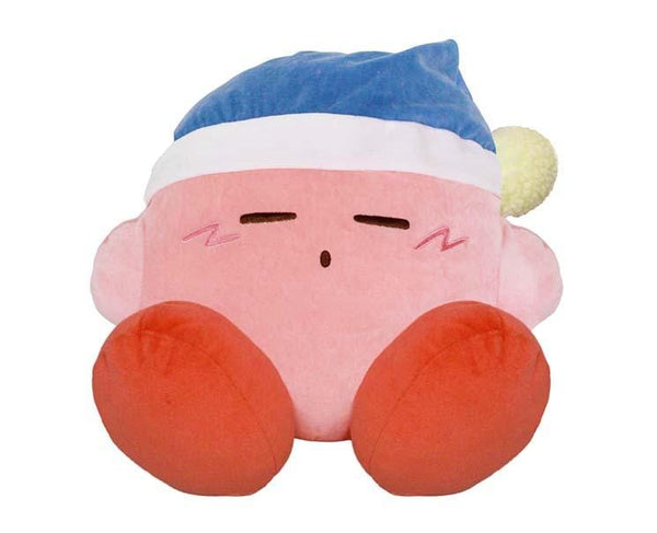 Sleepy Kirby Plush Cushion