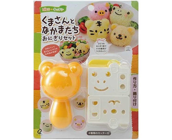Bear and Friends Face Onigiri Mold