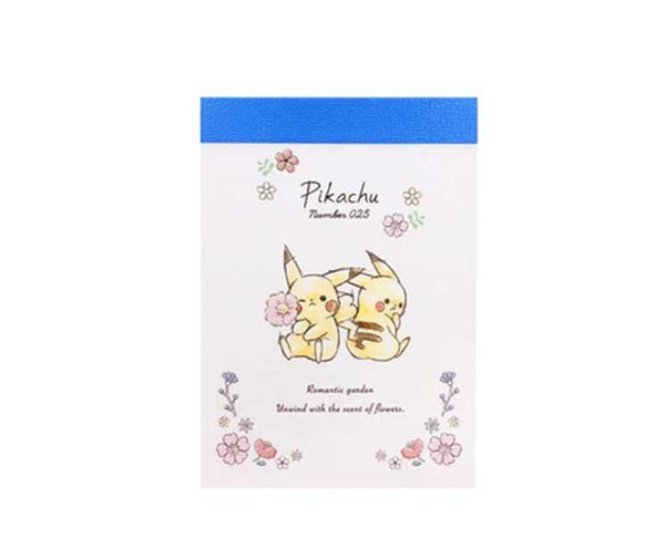 Pikachu Number 025 Flower Mini Memo Pad