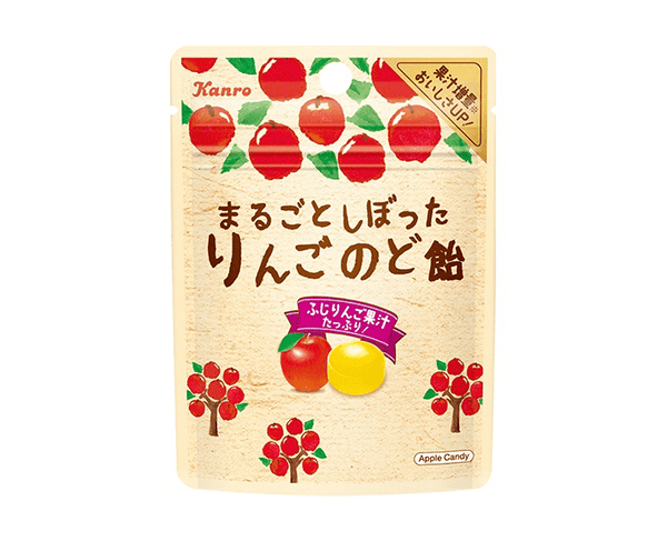 Kanro Apple Hard Throat Candy