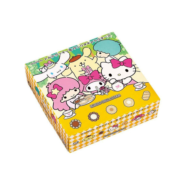 bourbon torte cookie can sanrio characters white back ground