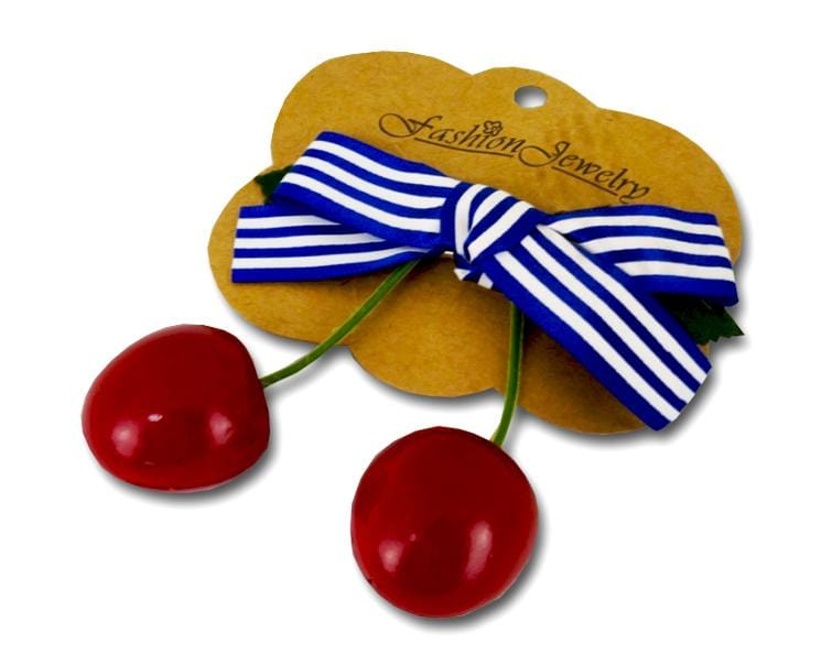 Cherry Bow Hairclip Accessory