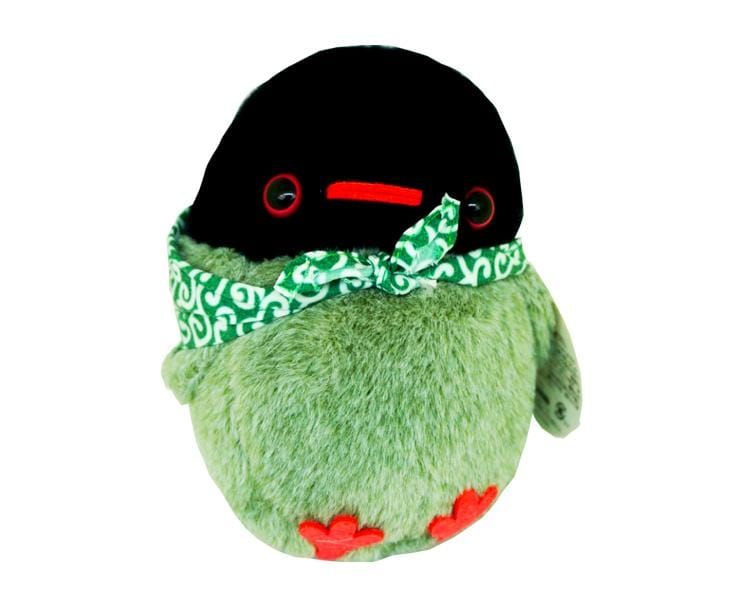 Chun Chun Friends Bird Plushie (black/gray/green)