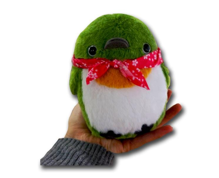 Chun Chun Friends Bird Plushie (green/pink)