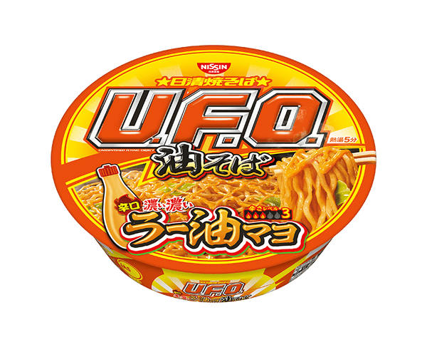 Nissin Yakisoba Uf Oil Soba Spicy Thick Dark Rice Oil Mayo 113G