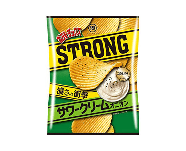Koikeya Potato Chips Strong Sour Cream Onion 56G