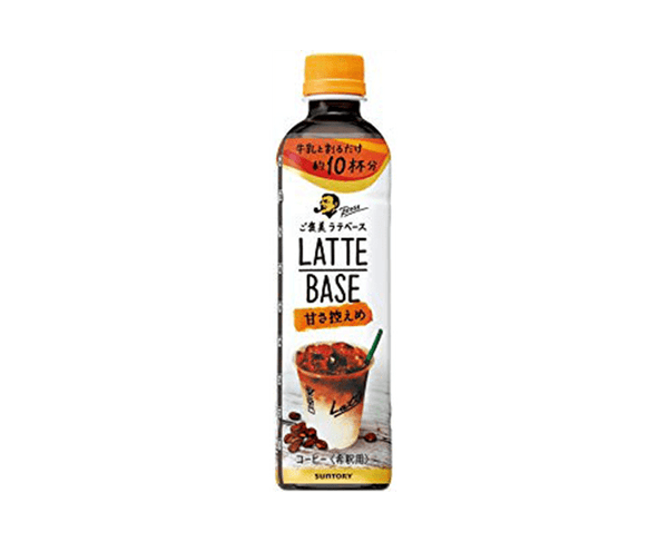 Suntory Boss Latte Base Coffee Drink 490Ml