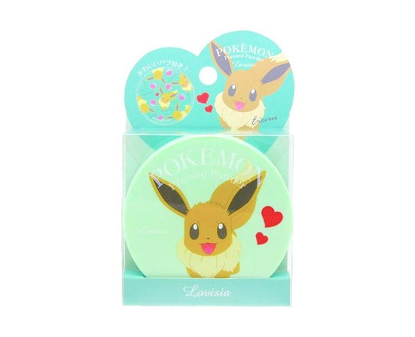 Pokemon Pressed Powder Makeup Green Eevee