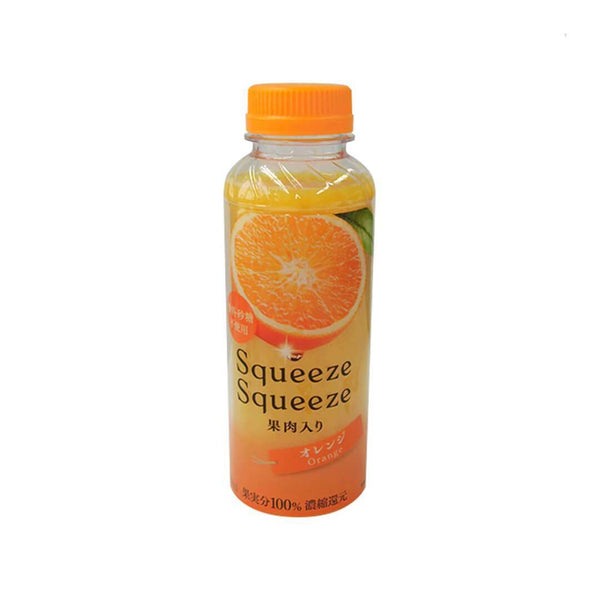 family mart squeeze squeeze orange bottle fruit white background