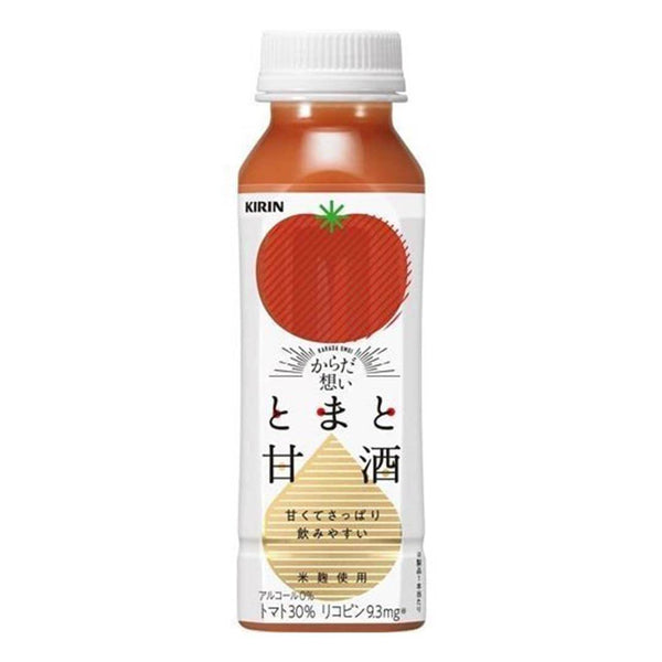 kirin tomato amazake bottle juice white background