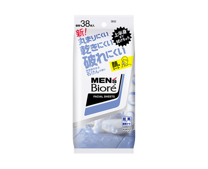 Men's Biore Facial Sheets Clear Soap