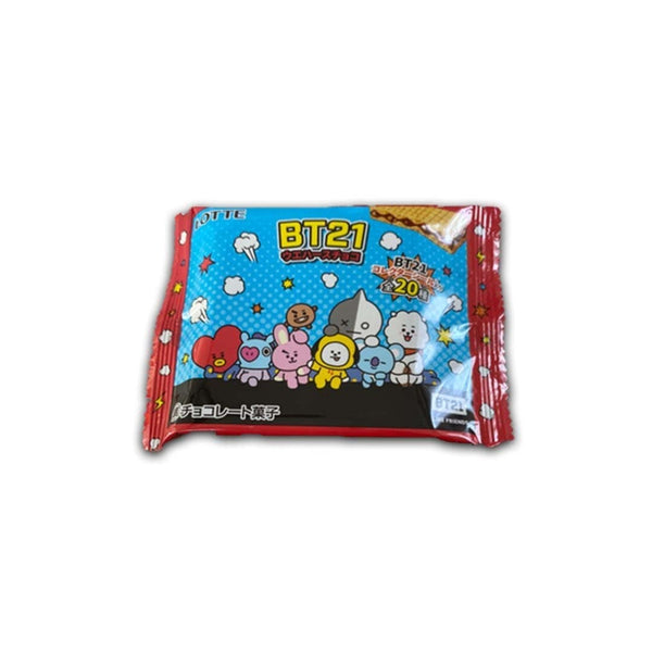lotte bt21 chocolate wafer in white background