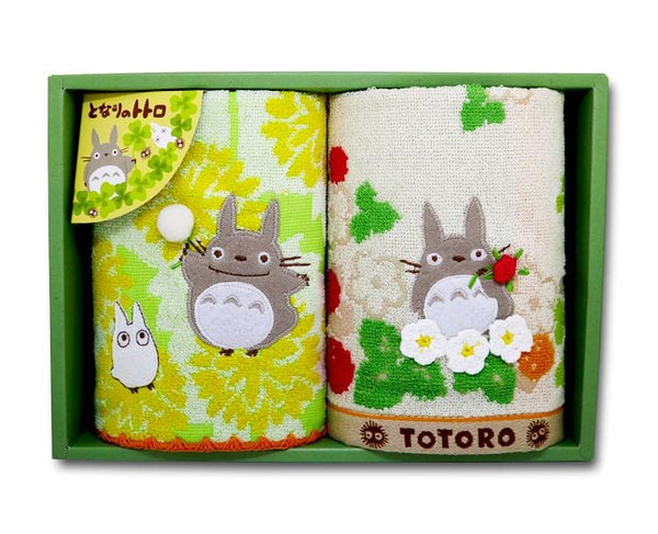 Totoro Embroidered Towel Set