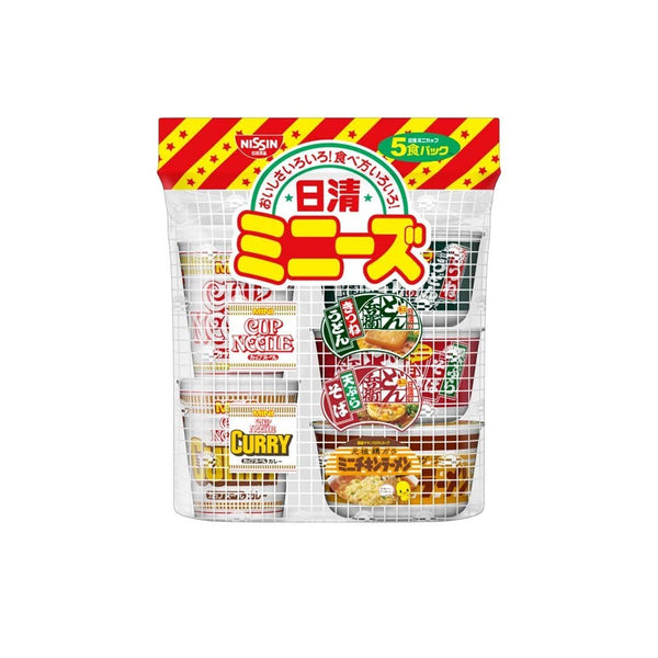 nissin popular noodles pack in white background