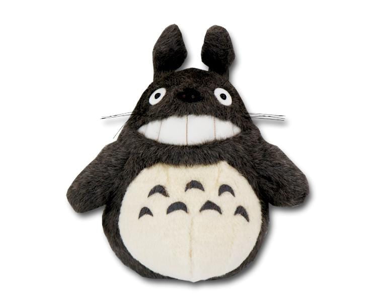 Smiling Totoro M-size Plush (dark gray)
