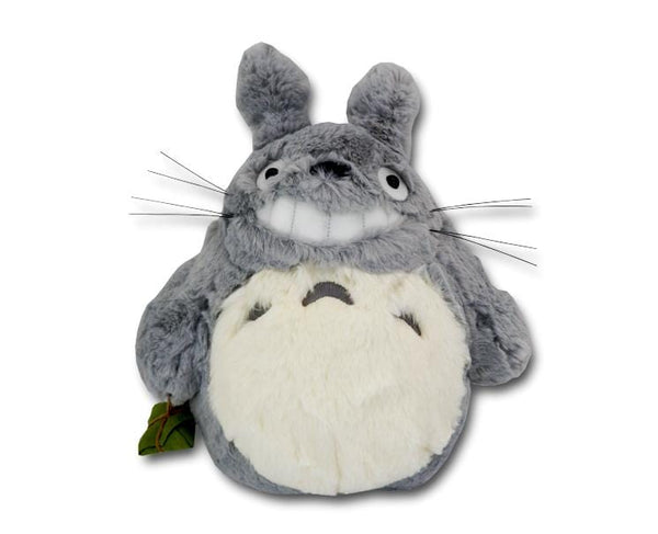Smiling Totoro Medium Plush Light Grey
