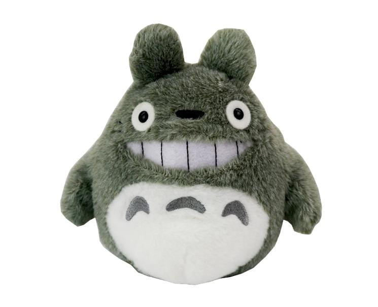 Smiling Totoro S-size Plush (light gray)