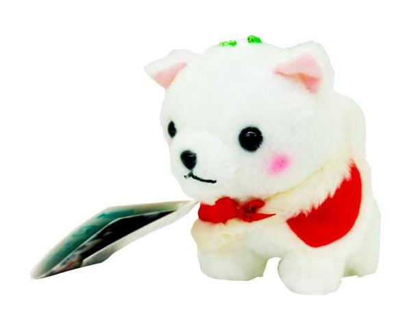 Christmas Plush White Dog