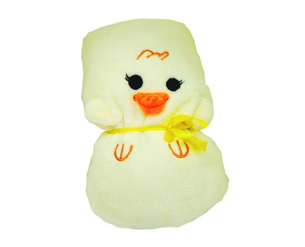 Yellow Chick Rollup Blanket