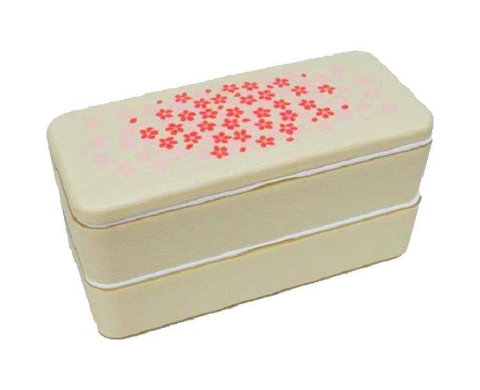 Cherry Blossom 2-Layer Beige Bento