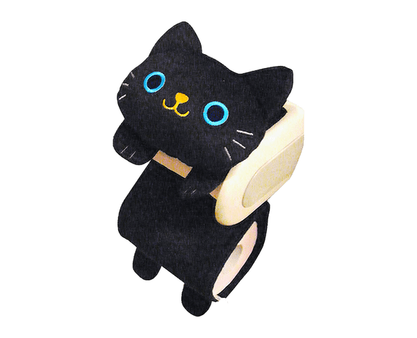 Black Cat Toilet Paper Holder