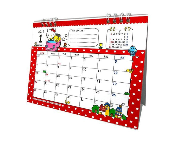 Sanrio 2019 Desk Calendar (Hello Kitty)