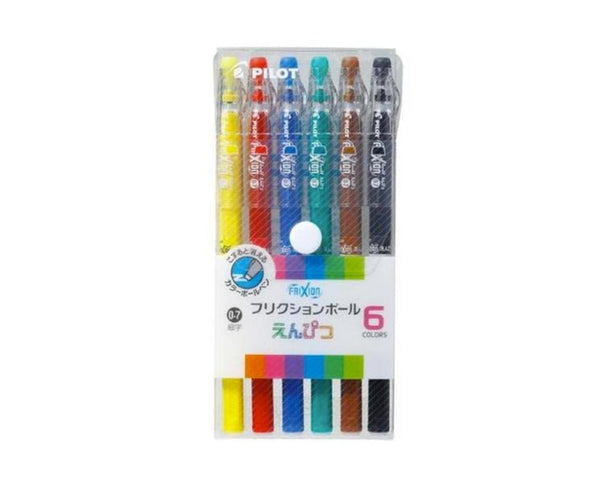 Friction Ball Erasable Pens 6 Color Set