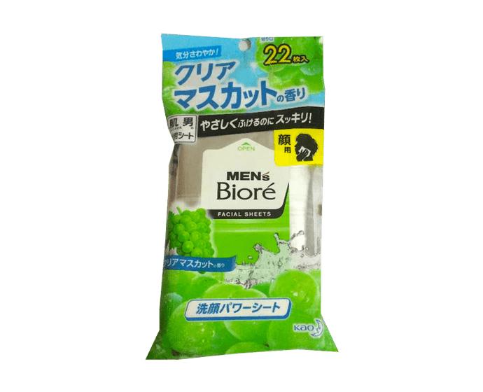 Men's Biore Facial Sheets Clear Muscat