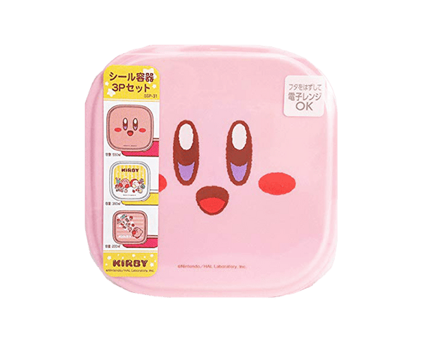 Kirby 3 Piece Food Container Set